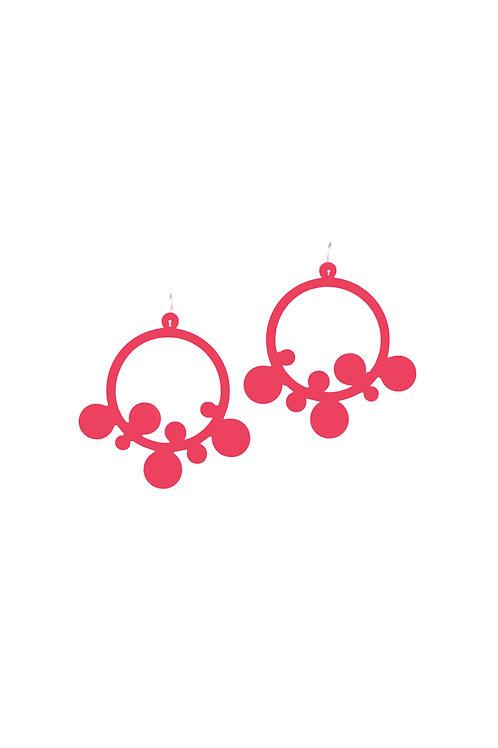 W Flingstone Earring Red
