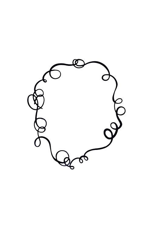 Sinuosa Necklace Black