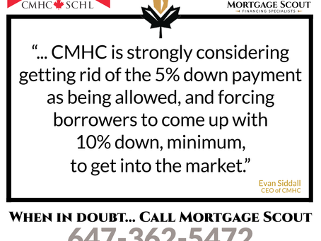 🚧Could this mark the END of the minimum 5% down payment for homebuyers⁉️