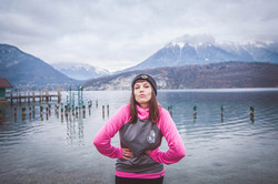 Sweat étanche femme rose Hot Savoie 74