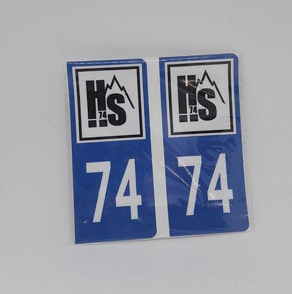 Stickers plaque 74