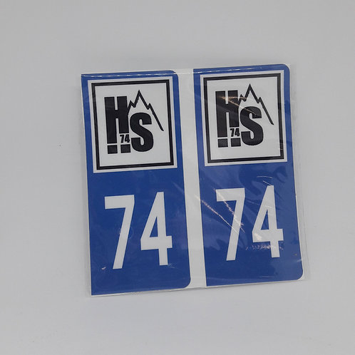 Stickers plaque 74