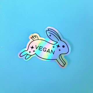 Vegan Rabbit Vinyl Sticker