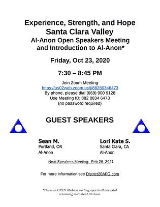 Oct 2020Speaker Meeting