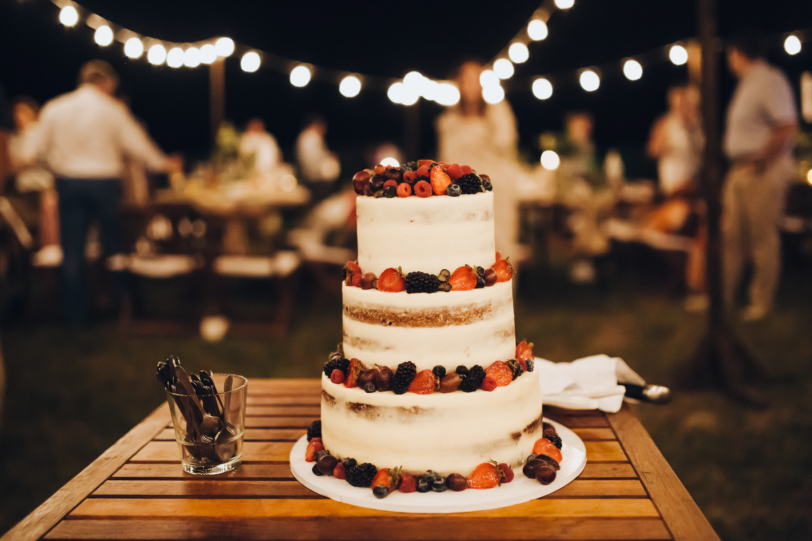 Semi Naked Cake With Fruit