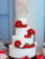 Textured Buttercream Wedding Cake Red Roses