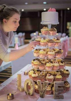 Wedding Gourmet Cupcake Tower less
