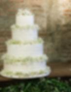 Ruffle Buttercream Wedding Cake Gypso
