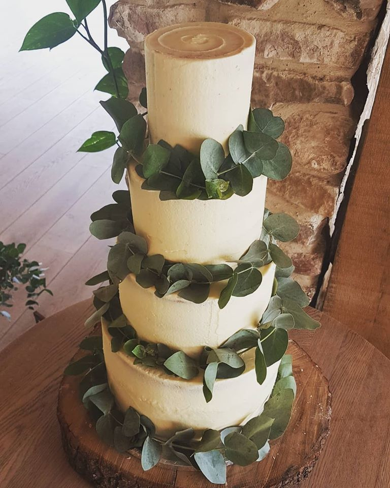Buttercream Eucalyptus Wedding Cake