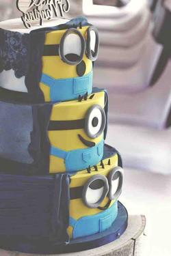 Hidden Minion Wedding Cake less