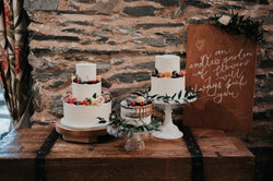 Rustic Wedding Cakes with Fruit and Foliage