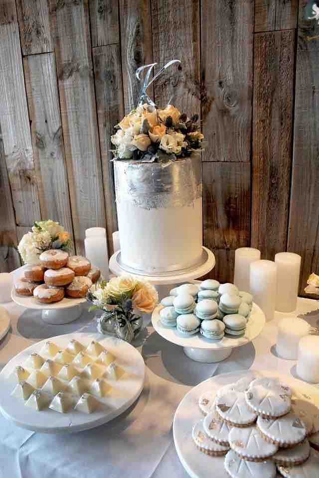 Silver Wedding Dessert Table