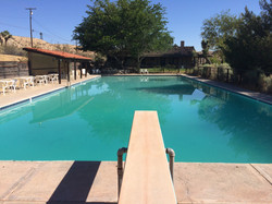Ranch Pool and diving board