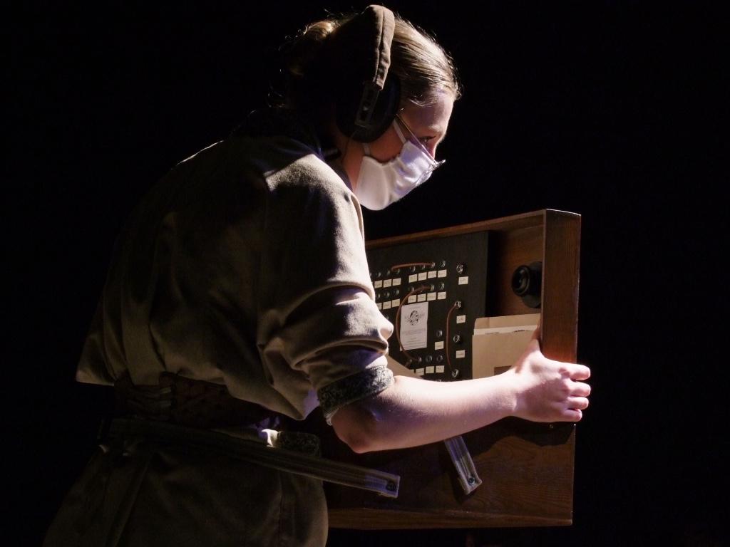 Prop telephone and telegram box