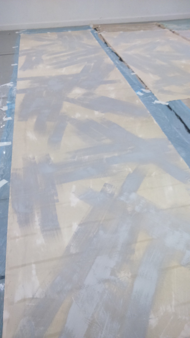 PAINTING THE CANVAS BALCONY PIECES