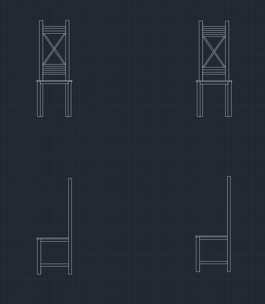 CAD drawing of banquet chairs