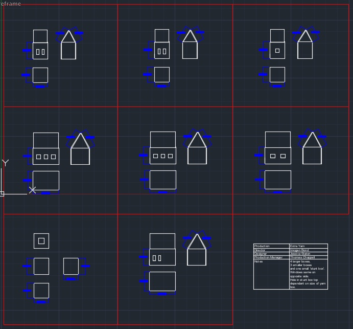 CAD FOR THE HOUSE BOXES