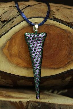3728 - Thin triangular purple/green dichroic glass