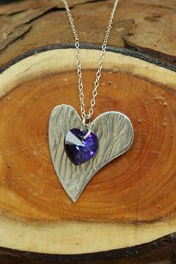 3540 - Heart and heart-shaped Swarovski crystal