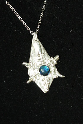 3008 - Snowflake with blue cabochon on diamond shape