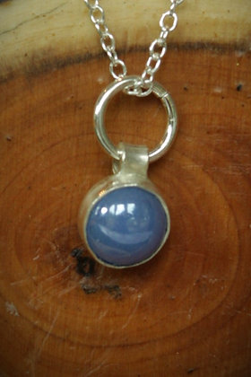 3490 - Small blue opaque cabochon