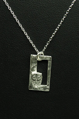 6193 - Baby owl on rectangle frame