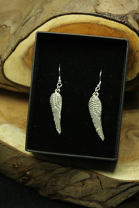 6316 - Angel wing dangly earrings