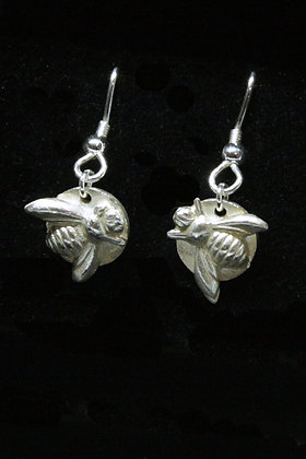 4010 - Dangly bee earrings
