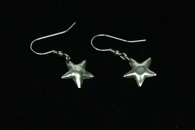 5230 - Dangly cushioned star earrings