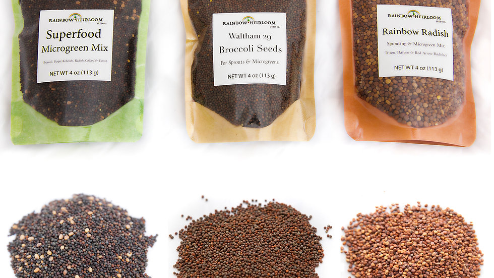 Classic Sprouting & Microgreen Seed Variety Pack