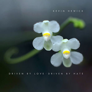 Cover of 'Driven By Love, Drive By Hate' by Kevin Hewick.  Photography by Asuka Sawada, design by Jim Tetlow