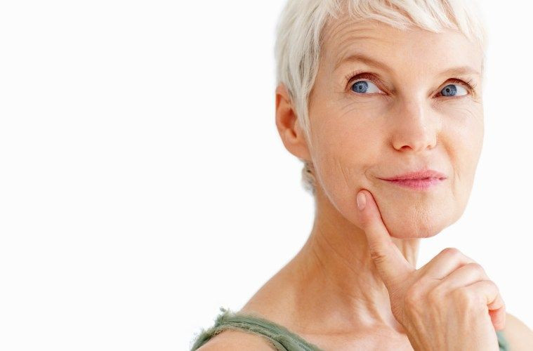 Woman thinking about retirement