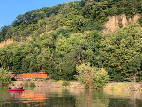Serene view of the Mississippi Bluffs