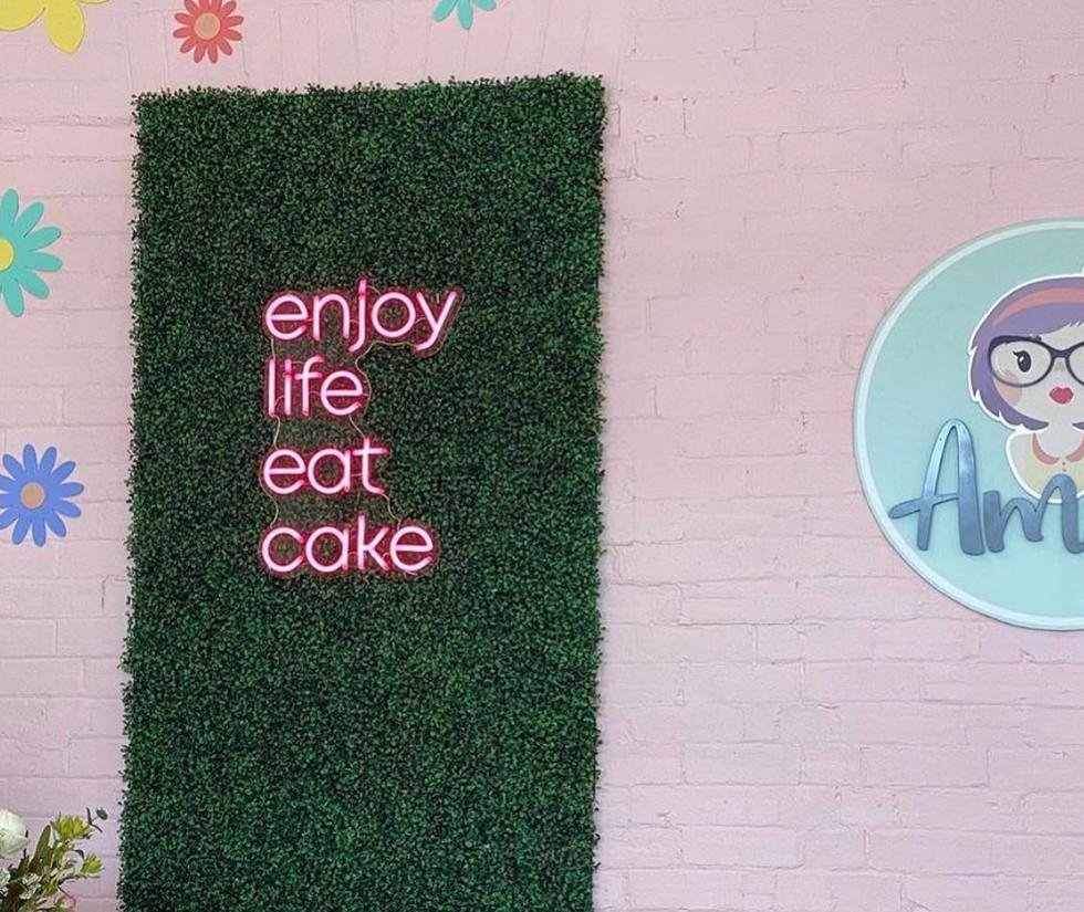 Enjoy Life Eat Cake Sign