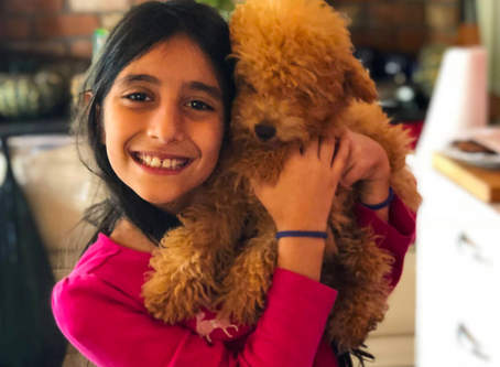 Reducing kids anxiety with a man's best friend.