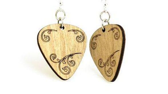 Guitar Pick Earrings # 1426