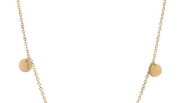 Delicate Coin Choker Necklace