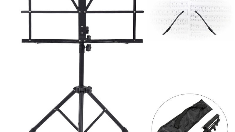 Music Sheet Tripod Stand Aluminum Alloy Music Stand Holder