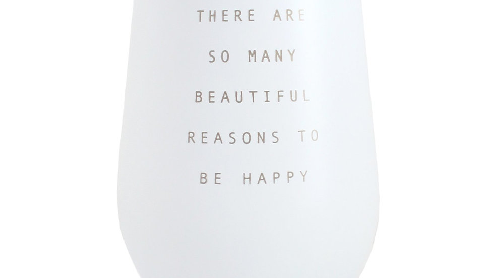 Inspirational Quote Climate Control Cup  White