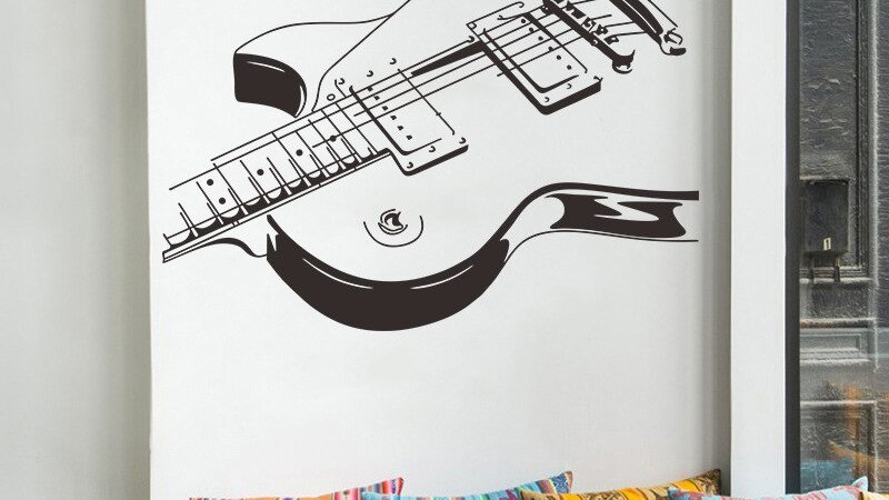 Large Size Guitar Music Wall Sticker
