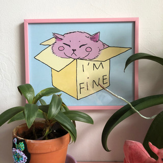 I'm fine (8x10)