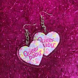 queer baby earrings