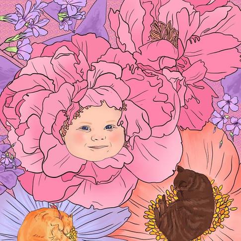 un bébé fleur