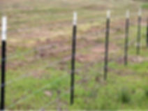 Studded post barb wire fence