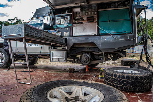 Time for a tyre rotation... in the kitchen?