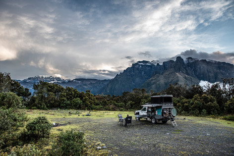 We found a pretty epic camp site on the way back up