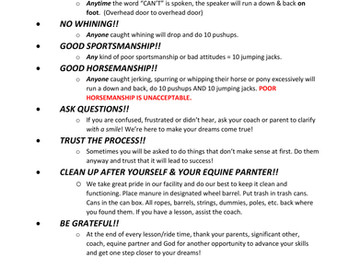 Arena Guidelines