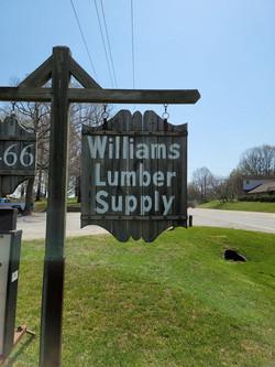 Williams Lumber Sign