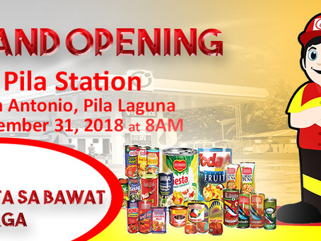 Grand Opening Pila Station!