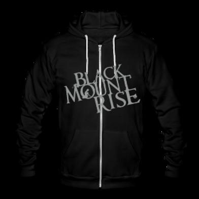 BMR Hoodie white on black